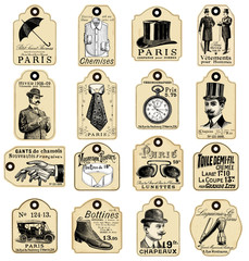 16 french retro labels for men