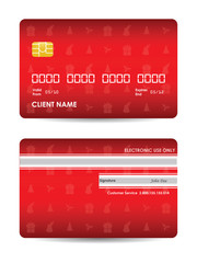 credit card with Christmas design