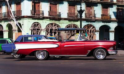 Garden Poster Cars from Cuba Historische kubanischer Strassenkreuzer