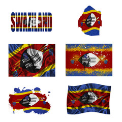 Swaziland flag collage