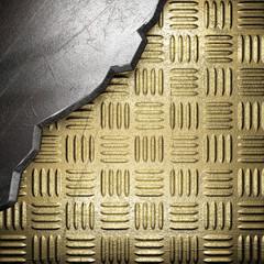 metal on gold