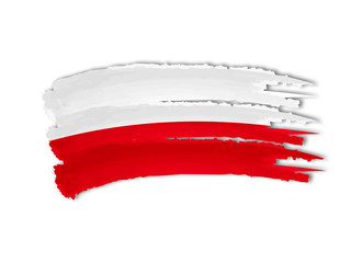 Polish flag drawing