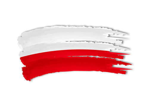 Polish flag drawing