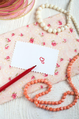 Saint Valentine's Love letter in romantic style