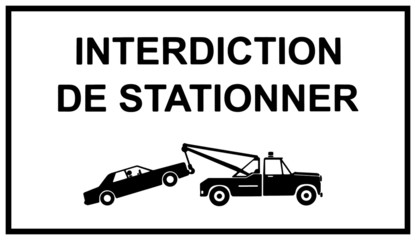 Photos illustrations et vid os de fourri re for Panneau d interdiction de stationner devant un garage