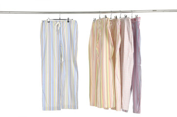 fashion leisure trousers on a hanger