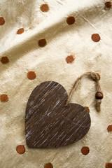 riser card, wooden heart