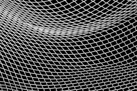 Soccer Net in Black and White