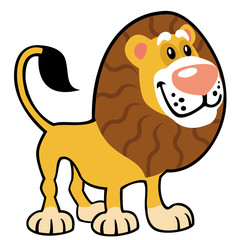 simple childish lion