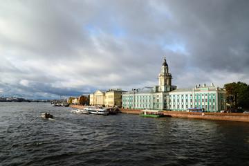 General view on Saint-Petersburg embankment