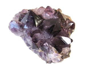 Amethyst violet  druse isolated