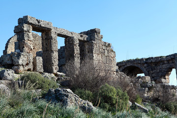 View of Sillyon Ancient City, Antalya