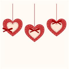 vector valentine's hearts