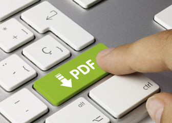 PDF keyboard key. Finger