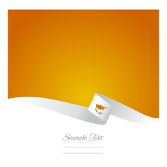 Abstract color background Cypriot flag vector