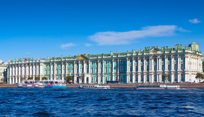 View of St. Petersburg. Winter Palace from Neva River