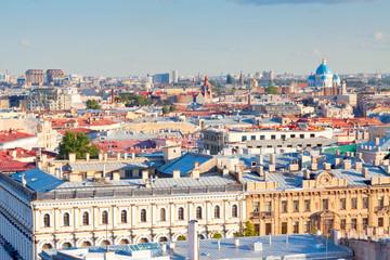 Top view of european city