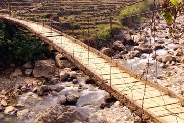 Suspension bridge near Sapa in Vietnam