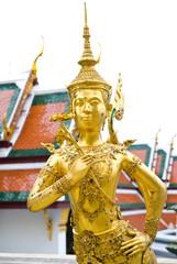 Kinnon Golden statue in The Emerald Buddha temple