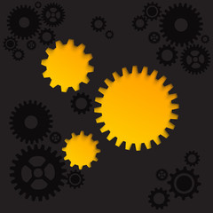 Wall Mural - Abstract gear background