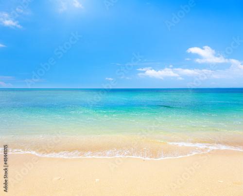 Wall mural beach and tropical sea