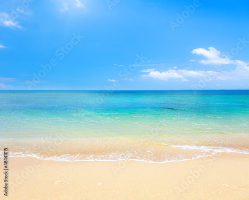 Fototapete beach and tropical sea