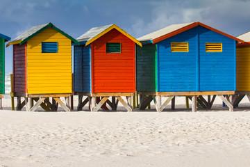 Colorful beach huts at Muizenberg Beach