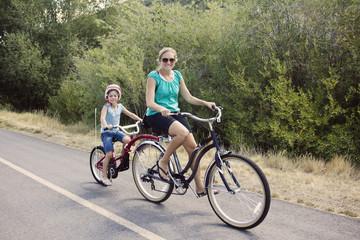 Acrylic Prints Cycling Family Enjoying a Bike Ride