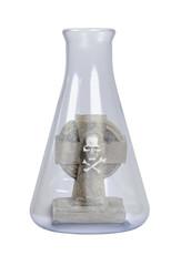 Headstone in a Glass Beaker