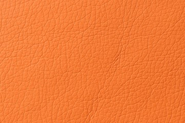 Bright Orange Artificial Leather Background Texture