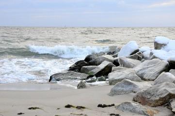 Plaża w Gdyni zimą, Polska