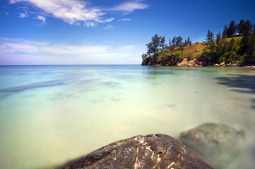 Blueish view at Tips of borneo