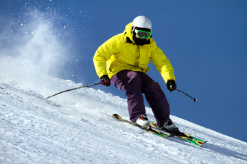 Fototapete - sciatore