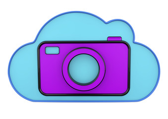 cloud and camera 3d icons