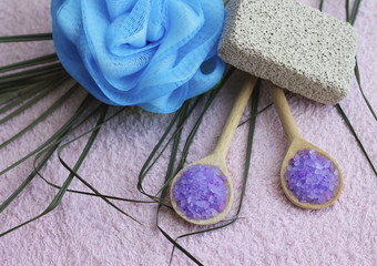 Shower accessories, close-up
