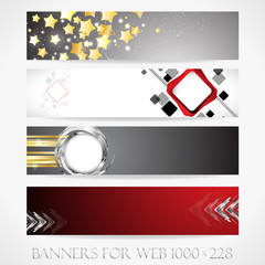 Banners for web. (Vector collection10)