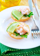 avocado with shrimps