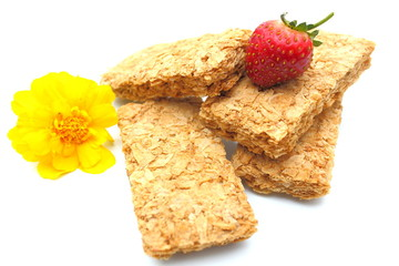 Wheat breakfast biscuits with fresh fruit