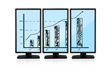 chart on monitors
