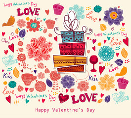 Vector Valentine Greeting card