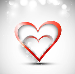 Valentine's day or Wedding card vector white background