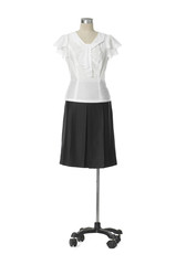 full-length Fashion clothes on a mannequin in white background