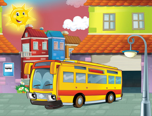Printed roller blinds Cars The happy face bus