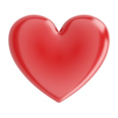 Beautiful Glossy Heart For Valentines Day Greeting Card