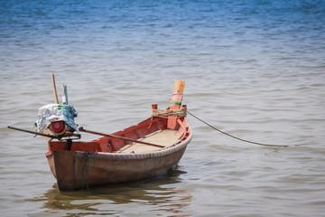 Empty boat in the sea