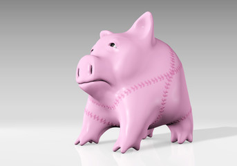 piggy bank has been mended
