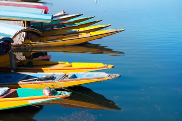 Boats at the Dal Lake Srinagar