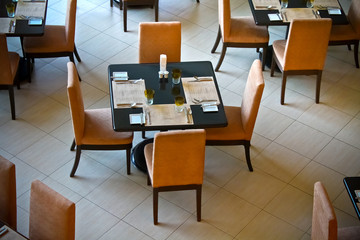 Dining Tables in a Restaurant