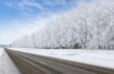 road in winter