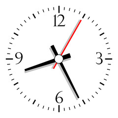 Vector clock isolated on white